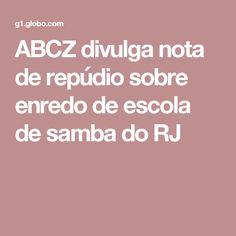 ABCZ divulga nota de repúdio sobre enredo de escola de samba do RJ