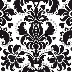 Almost forgot about damask somehow... LOVE black and white damask! Kinda ties in with my love of Victorian-royalty influenced- stuff lol.