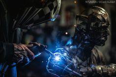sculpture N° UMAN  metal soudure art works humaine humain . artiste
