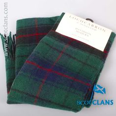 Davidson Tartan Lambswool Scarf. Free worldwide shipping available