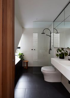 A For Architecture Transforms A Cottage Into A Two Story Home Bathroom Design