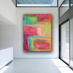 Large Contemporary Original Modern Abstract Wall by LibbyEmiArt, $220.00