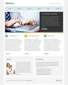 48 best free business html templates images on pinterest html maximus is a free multi purpose corporate htmlcss website template suitable fbccfo Images