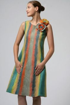 Check out this dress, it's made of felt.  It is amazing to look at.