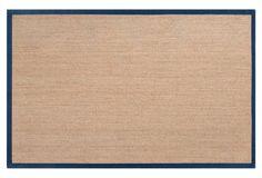 Village Sea-Grass Rug, Tan/Navy  2'x3': $37 5'x8': $205 8'x10': $409 9'x13': $659
