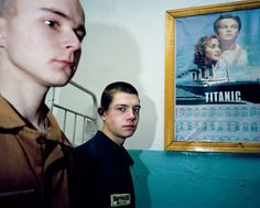 KANSK, SIBERIA, RUSSIA. 2001. Youth camp