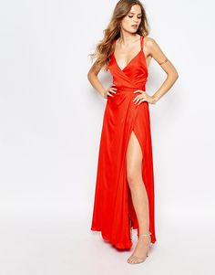 Image 4 of Fame and Partners Luminous Siren Embellished Strap Maxi Dress With Thigh Split
