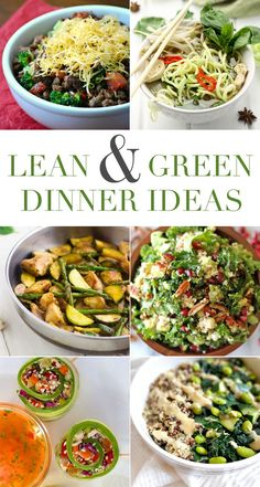 6 Lean and Green Dinner Ideas for the #Medifast 5 and 1 program.