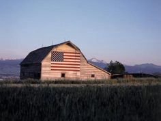 Barn with US Flag, CO Photographic Print by Chris Rogers Country Barns, Old Barns, Country Life, American Barn, American Flag, American Pride, American Spirit, A Lovely Journey, Happy Birthday America