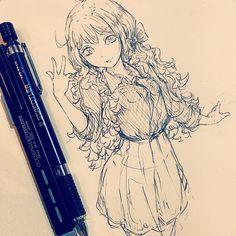 休憩〜お久しぶりです。最近はいろいろとあり絵から離れていていたんですが、描いてないとほんとに描けなくなりますね…。リハビリしていくので、よろしくお願いします。 #doodle #illustration #manga #otaku #drawing #イラスト #絵 #落書き #アナログ