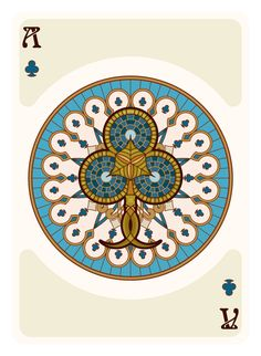Nouveau Playing Cards Ace of Clubs - playing cards art, game, playing cards collection, playing cards project, cards collectors, design, illustration, card game, game, cards, cardist, cardistry