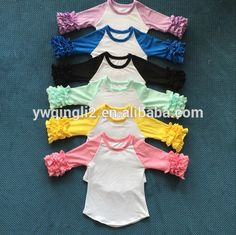 e26d21741c8 Source DYJ-512 Persnickety Remark girls ruffle raglan infant toldders  clothing wholesale icing ruffle shirts