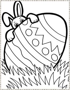 A Bunny Peeking from Behind Easter Egg Coloring Page - NetArt Easter eggs Easter Coloring Pages Printable, Easter Egg Coloring Pages, Easy Coloring Pages, Disney Coloring Pages, Coloring Pages To Print, Coloring For Kids, Easter Bunny Colouring, Easter Bunny Pictures, Easter Activities For Kids