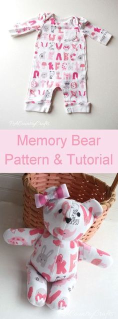 Make a stuffed memory bear with this free PDF pattern and tutorial.