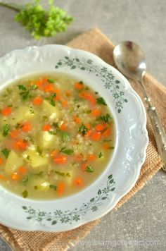 Soup Recipes, Dinner Recipes, Cooking Recipes, Healthy Recipes, Dinner Ideas, Polish Soup, Poland Food, Food Experiments, Diet