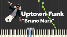 Uptown Funk Bruno Mars Piano Lesson | Lyrics | Synthesia Piano Tutorial
