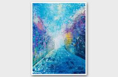 Art Print A3 Blue abstract modern minimalist by AstaArtwork, $23.00