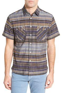 'Donelson' Standard Fit Stripe Sport Shirt