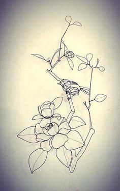 椿にうぐいす camelia e usignolo