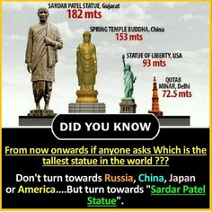 Which will be known as statue of Unity❤️🙌🏻 Wierd Facts, Wow Facts, Intresting Facts, Real Facts, True Facts, Funny Facts, Weird, Some Amazing Facts, Interesting Facts About World