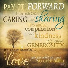 MA655 12 x 12 - Pay it Forward / Textured, finished wall decor ready to hang by…