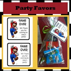 Mario Kart Party Favors