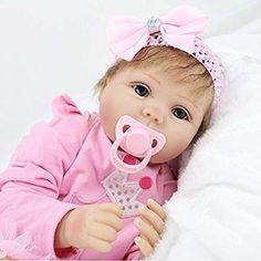 NPK 22inch 55CM reborn bébé dolls fille Poupées vinyl soft silicone réaliste baby Jouets magnétiques yeux ouvert pas cher Princesa rosa