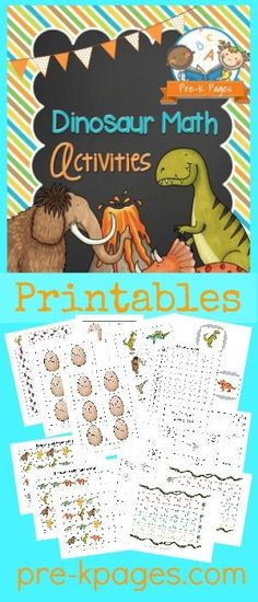 Printable Dinosaur Math Activities for Preschool and Kindergarten