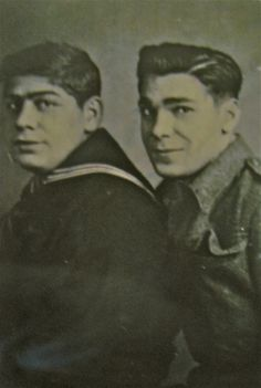 Frank and Felix De Rosa (left to right) are pictured in this World War II photograph. At the time Frank was 16 and in the Navy and Felix as 19 and serving in the Army. Photo provided