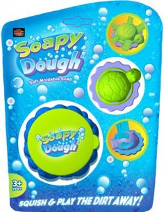 Soapy Dough is a Soft-Moldable Soap hand and body soap. Squish and play the dirt away! Mold and sculp while getting clean. Decorate with your brand logo for a unique promotional product. #promotional #products