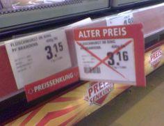 Na vielen vielen Dank dafür. | 29 Male, als Supermarkt-Angebote echt zu weit gegangen sind