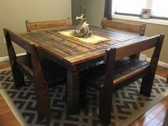 Farmhouse Kitchen Table Square square farmhouse table. 36 inches in main plans but altered plans