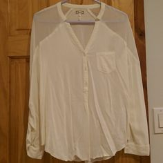 Blouse Sheer shoulders, loose fitting Kirra Tops Blouses