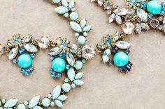 Jewels with aqua blue