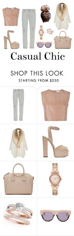 """""""Casual Chic - spring day out"""" by lucia-grigore ❤ liked on Polyvore featuring Genetic Denim, Valentino, Sally Lapointe, Giuseppe Zanotti, Givenchy, Michael Kors and STELLA McCARTNEY"""