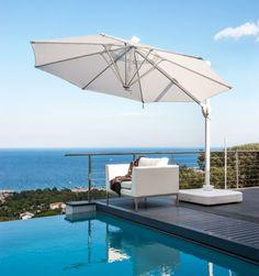 sun umbrella garden made in italy LED