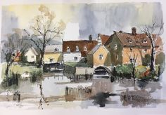 Caroline Furlong is a member of the Society of East Anglian Watercolourists. Her paintings have been voted Visitor's Favourite at the society's exhibitions. Her workshop on Landscapes with Stick and Ink will be held on July Painting Workshop, Exhibitions, Cambridge, Watercolour, Landscapes, Paintings, Ink, Pen And Wash, Paisajes