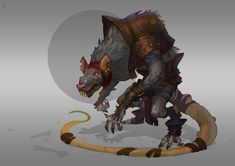 Rats,by Alexander Trufanov Character Poses, Character Concept, Concept Art, Character Reference, Fantasy Races, Fantasy Rpg, Fantasy Inspiration, Character Inspiration, Aliens