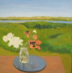"""Poppies & Peonies"" 1983 oil on linen Jane Freilicher"