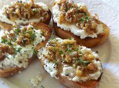 Έλα να κάνουμε μπρουσκέτες με καρύδια και μέλι - Food | Ladylike.gr