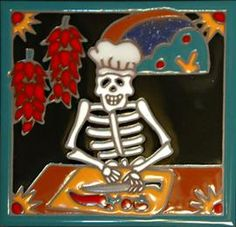 Backsplash tile - dia de la Muertos.  awesome!!!!