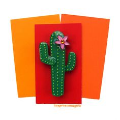 Saguaro Cactus Vintage Inspired Novelty by TangerineMenagerie