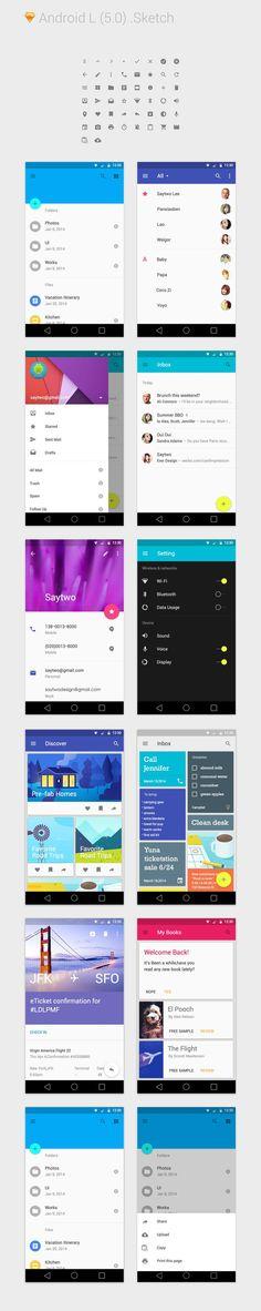 Android L for Sketch 3 | Sketch App | Pinterest