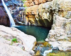 Meiringspoort Waterfall or The Great Waterfall, De Rust, Little Karoo, South Africa Visit South Africa, Water Shoot, Round Pool, Crystal Clear Water, Shallow, Pathways, Wales, Attraction, Rust