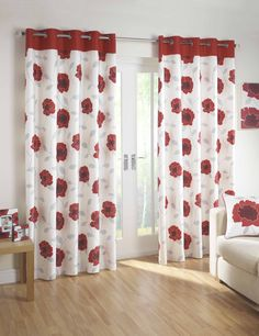 Red Kitchen Curtains Stylishly Lovely - Red Kitchen Curtains Stylishly Lovely, Beautiful Red and Gold Curtains with A Lovely Floral Red And White Curtains, Gold Curtains, Printed Curtains, Modern Curtains, Red Curtains Living Room, Red Kitchen Curtains, Designer Bed Sheets, Home Furnishing Stores, Sofa Colors