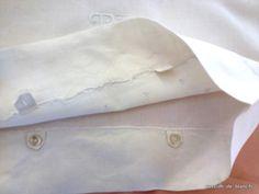 Linge ancien de lit > Draps, Taies... > LINGE ANCIEN / Parure comprenant 1 drap et 1 taie de traversin avec monogramme TC brodé sur toile de lin fin - Linge ancien - Passion-de-Blanc - Textiles anciens