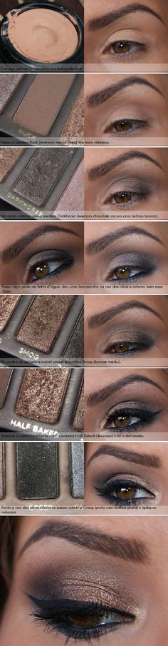 Naked 1 has to be one of my fav palettes. 10 Brown Eyeshadow Tutorials for Seduc… Naked 1 has to be one of my fav palettes. 10 Brown Eyeshadow Tutorials for Seductive Eyes – GleamItUp Brown Eyeshadow Tutorial, Eyeliner Tutorial, Eyeshadow Tutorials, Eye Tutorial, Makeup Tutorials, Makeup Tricks, All Things Beauty, Beauty Make Up, Real Beauty