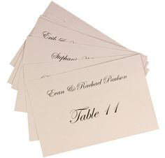 Steps To Flat Place CardsFavor Tags Easy To Follow