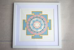 Moon Yantra for meditation/ yoga space by ArtForSeekers on Etsy