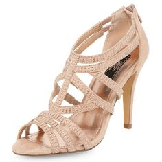 DP Occasion Nude caged gem sandals - Heels  - Shoes